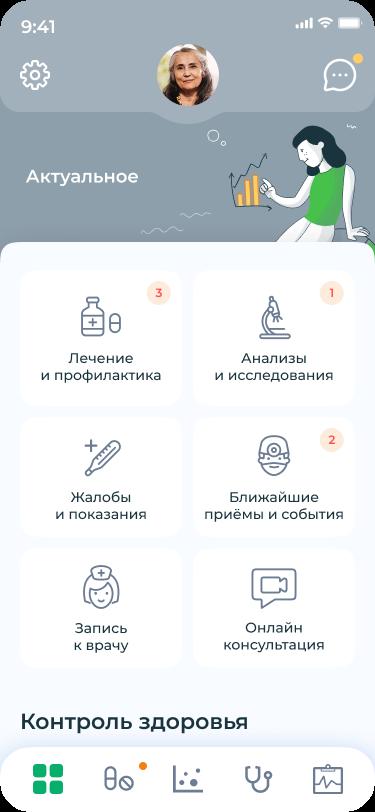 Интерфейс электронной медицинской карты